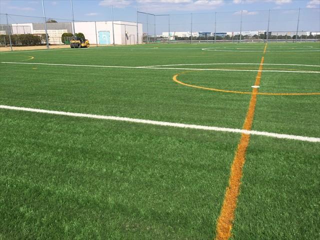 グリーングラスの人工芝はコートに活用できます。